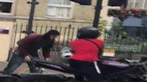 Public foil violent moped robbery