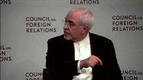 سخنرانی ظریف در یک مرکز تحقیقاتی در نیویورک