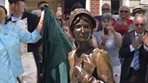 Jane Austen statue unveiled