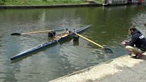 The 'row-bot' takes to the river