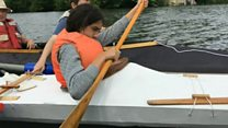 Kayak test for Cardiff school children