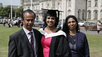 Inspirational cancer student graduates