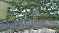 Flash floods hit Cornish village of Coverack