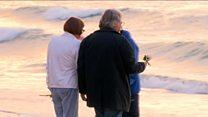 Dawn vigil for shot Australian woman