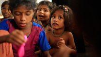 Anak-anak Rohingya terpisah dari orang tua
