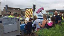 Bristol Water bowser arrived at Ashton Way