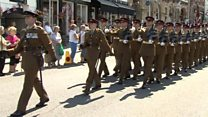 Regiment honoured with freedom of town