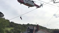 Woman winched from flash flood speaks to BBC