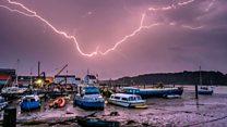 Lightning strike 'like a bomb going off'