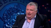 Stephen Nolan justifies pay on BBC Newsline