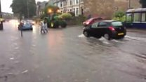 Flash floods in Lancashire