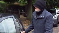 Football abuse accused arrives at court