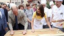 Knot bad: Royals try pretzel making