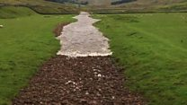 The dry River Twiss near Kingsdale is no longer dry.