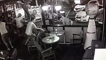 CCTV shows Aegean earthquake hit cafe