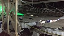Ceiling collapses at wedding venue
