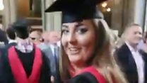 Dad films the wrong girl at his daughter's graduation ceremony