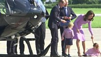 Princess pushes buttons on helicopter tour