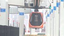 """""""قطار السماء"""" أسرع مترو معلق في الصين"""