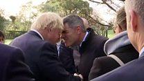 Johnson jokes about Maori greeting