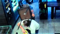 Starbucks customer tackles armed robber