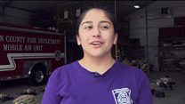 The female firefighters teaching the next generation