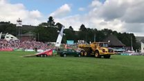 Quad rider injured in Royal Welsh stunt show