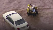 Aerial footage shows rescue in Arizona floods