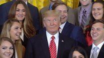 Почему президент Трамп закатил глаза?