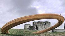 Gwrthwynebu cynllun cerflyn cylch haearn castell y Fflint.