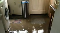 Sewage in homes after pipe burst