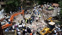 India building collapse rescue underway