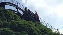 Footage of Oblivion ride breakdown