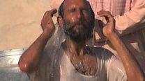 مداوای معتادان به مواد مخدر در یک مرکز آب درمانی در هلمند
