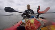 Teen kayaker clears litter from rivers