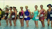 55 yaşdan yuxarı olanların bikini müsabiqəsi