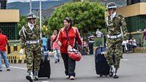 Thousands leave Venezuela before strike