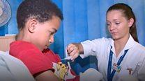 Child cancer girl returns to ward as nurse