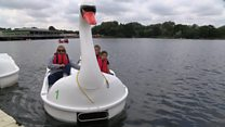 New Rushden Lakes boathouse opens