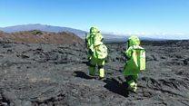 Los científicos que se pasean por Hawái en traje espacial para llegar a Marte