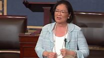 Democrat senator's tearful health care plea