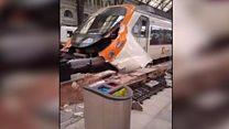Аварія у Барселоні: кадри з вокзалу