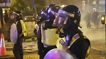 احتجاجات عنيفة في لندن