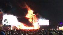 Пожар на фестивале в Испании: тысячи человек эвакуированы