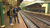 Couple travelling to all 2,563 train stations in Britain