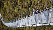 'World's longest' hanging bridge opens