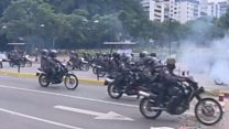 Explosions and clashes in Venezuela