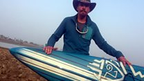 'I paddle boarded down the Ganges river'