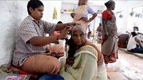 Inde: le juteux marché des cheveux