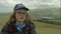 Girl, 11, completes Wainwright challenge